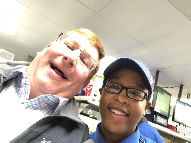 Doug with Trice Yarborough, GM of Culvers